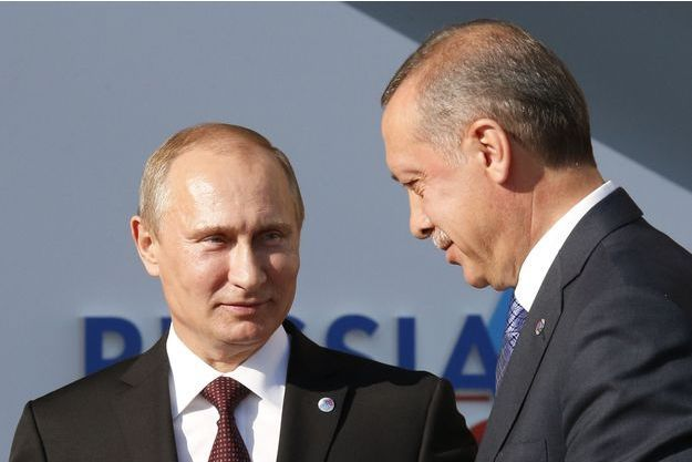 Vladimir Poutine et Recep Tayyip Erdogan, photographiés en septembre 2013.