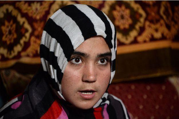Aziza Rahimzada vit dans un camp de fortune à Kaboul.