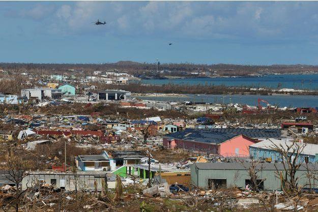 Les Bahamas après le passage de l'ouragan Dorian.
