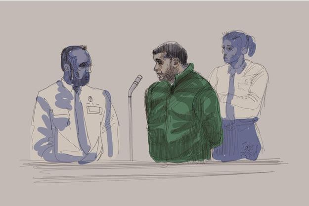 Nacer Bendrer illustré lors du procès.