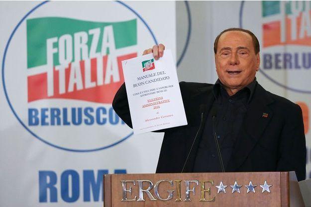 Silvio Berlusconi, en meeting le 10 mai dernier