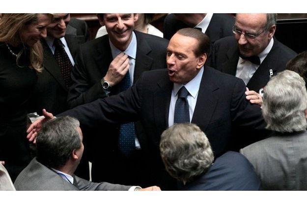 Silvio Berlusconi à la Chambre des députés, vendredi.