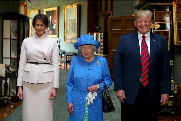 Melania Trump, Elizabeth II, Donald Trump