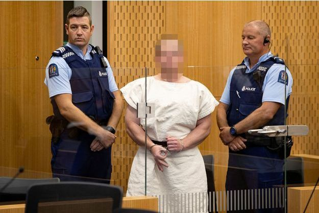 Brenton Tarrant dans un tribunal de Christchurch.