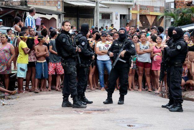 La police à Belem, au Brésil.