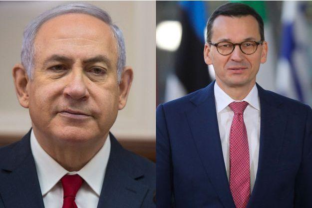 Benjamin Netanyahu et Mateusz Morawiecki.