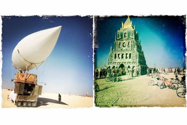 Les premières installations du Burning Man 2015