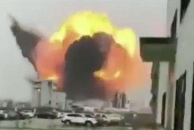 L'explosion s'est produite dans l'entreprise Tianjiayi Chemical de Yangchen.