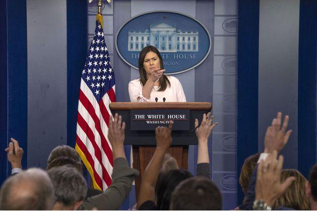 La porte-parole de la Maison Blanche, Sarah Huckabee Sanders, lundi.