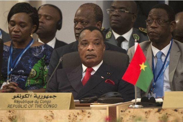 Le Président du Congo-Brazzaville Denis Sassou-Nguesso ici à la Cop22 à Marrakech le 16 novembre 2016