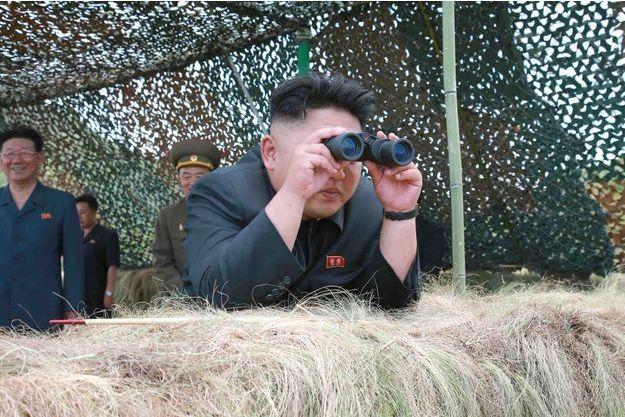 Kim Jong-un lors d'une visite sur un champ de tir de l'armée nord-coréenne, en juillet dernier.