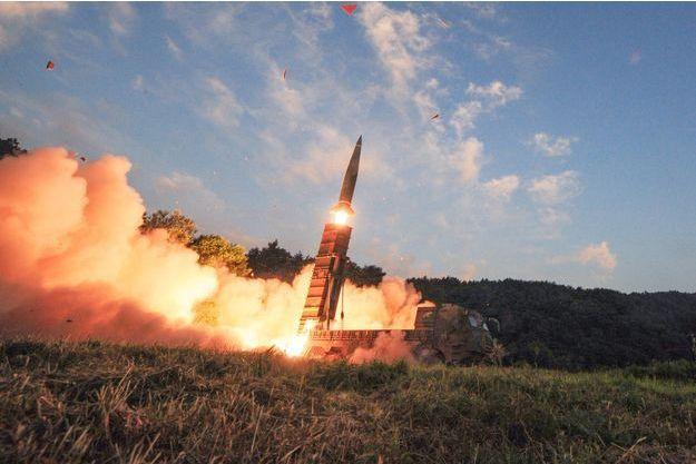 La Corée du Sud a procédé à des exercices militaires dont le lancement de missiles ce lundi.