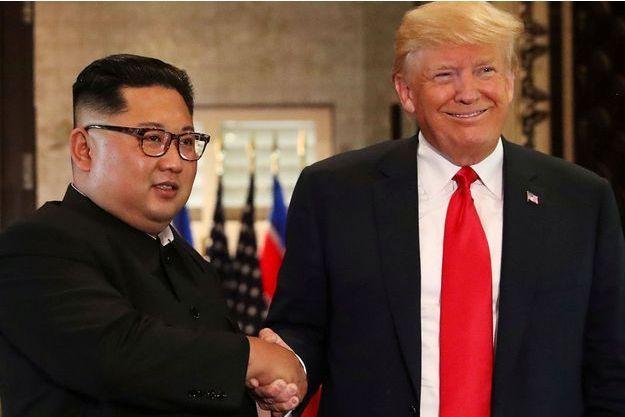 Kim Jong Un et Donald Trump à Singapour, le 12 juin 2018.