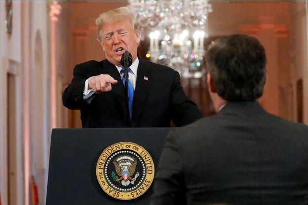 Donald Trump lors de son accrochage avec le journaliste de CNN.
