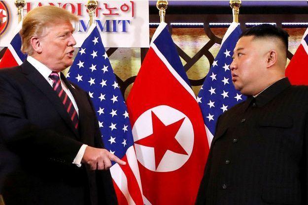 Donald Trump et Kim Jong un au sommet de Hanoi.