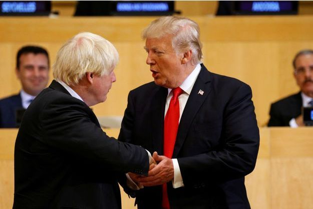 Boris Johnson et Donald Trump le 18 septembre 2017.