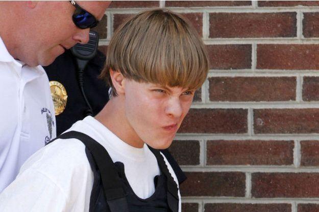 Dylann Roof lors de son arrivée au tribunal de Shelby, en Caroline du Nord, jeudi.