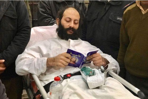 Le moine Philotheos al-Makari durant son procès en février dernier.