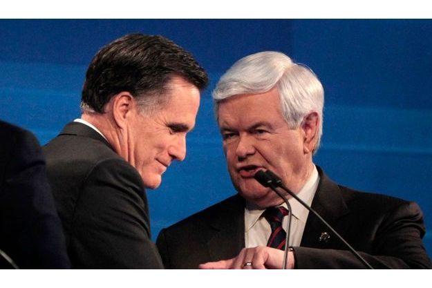 Mitt Romney et Newt Gingrich.