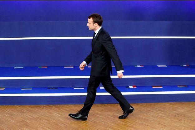 Emmanuel Macron à Bruxelles le 14 décembre.