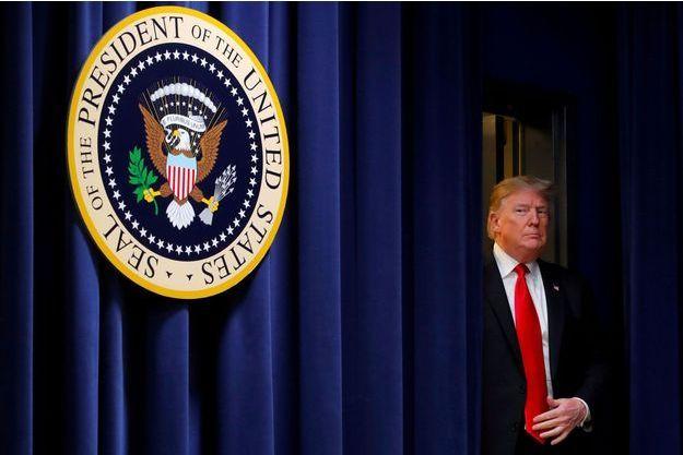 Donald Trump jeudi à Washington pour la signature d'une loi sur l'agriculture.
