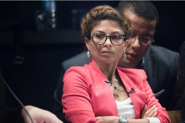 """Ensaf Haidar, le 29 mai 2015, à Paris, pour parler de son époux Raif Badawi emprisonné en Arabie saoudite pour """"insulte envers l'islam""""."""