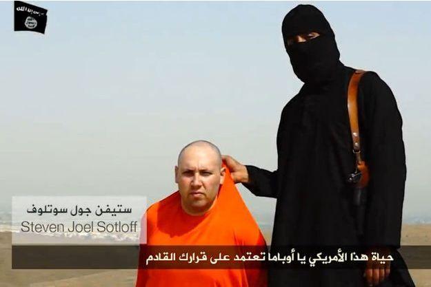Steven Sotloff dans la vidéo du 19 août.