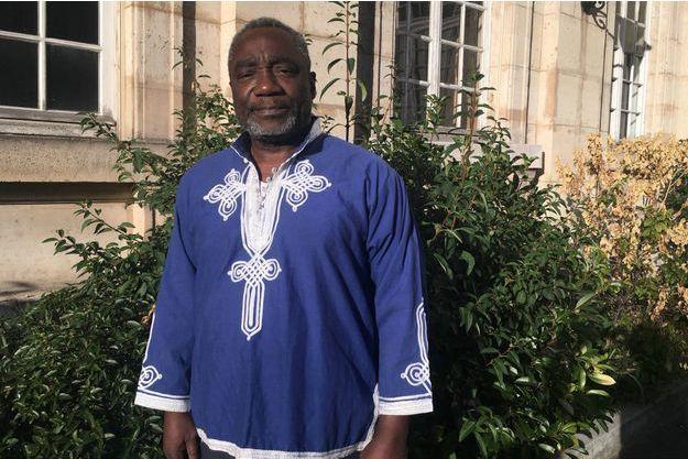 Le général Ferdinand Mbaou à Paris lundi 17 septembre 2018, trois jours après avoir appris la nouvelle