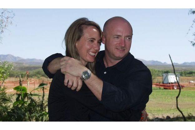 Gabrielle Giffords et son mari, Mark Kelly.