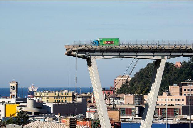 Le pont Morandi de Gênes.