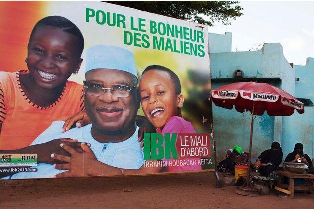 Une affiche électorale à Bamako, au Mali