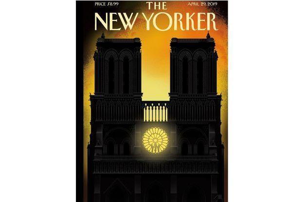 La Une du New-Yorker consacré à Notre-Dame de Paris.