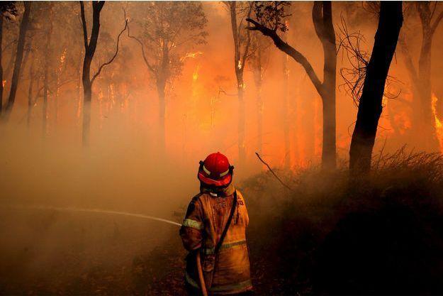 Un pompier en Australie le 23 novembre dernier. Image d'illustration.