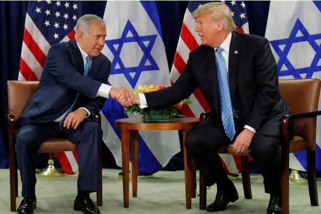 Donald Trump et Benjamin Netanyahu en septembre à New York.