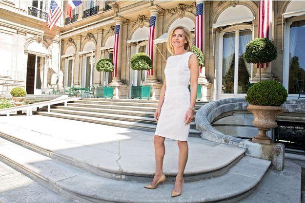 Le 27 juin à Paris, dans les jardins de la résidence de l'ambassadeur des Etats-Unis d'Amérique auprès de la République française et de la principauté de Monaco.