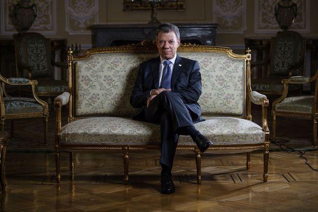Le président colombien au palais Nariño, sa résidence officielle à Bogota, le 10 octobre.