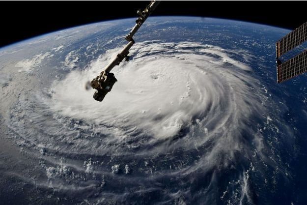 L'ouragan Florence vue de l'espace