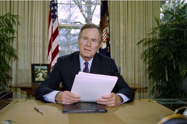 George H.W. Bush à la Maison blanche en 1992.