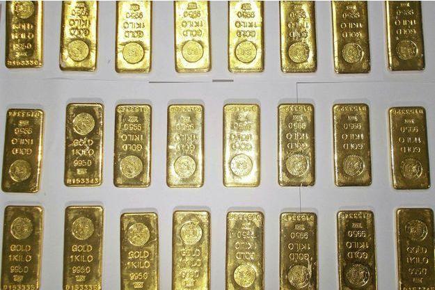 Les 24 lingots d'or retrouvés dans les toilettes de l'avion Jet Airways