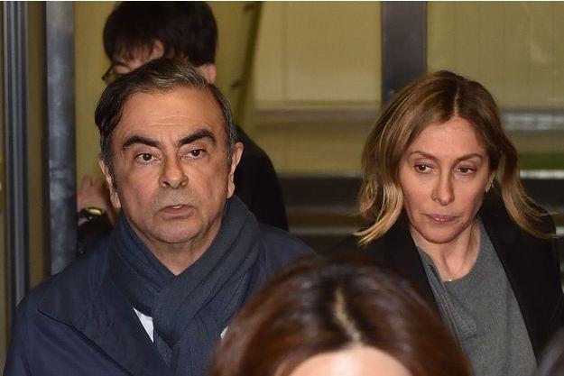 Carlos Ghosn et son épouse Carole, le 3 avril 2019.