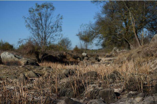 Terre sèche d'un agriculteur à Alentejo au Portugal, le 17 novembre 2017
