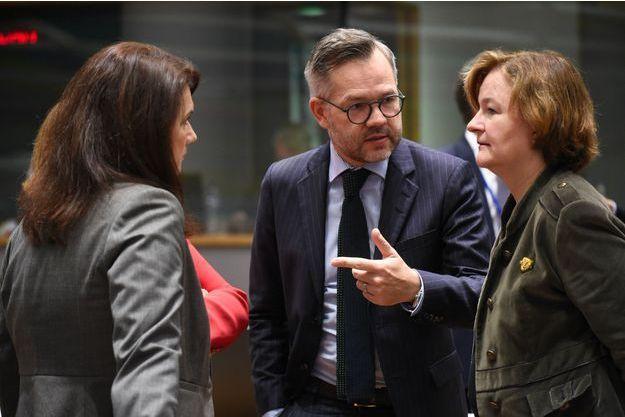 Michael Roth, ministre allemand chargé des Affaires européennes, et Nathalie Loiseau, son homologue française, à Bruxelles, en novembre 2018.