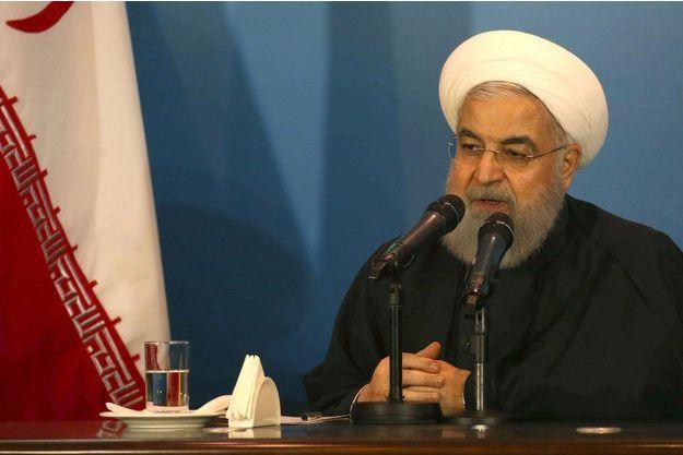 Hassan Rohani, président iranien, le 12 mars 2019 à Kerbala en Irak.