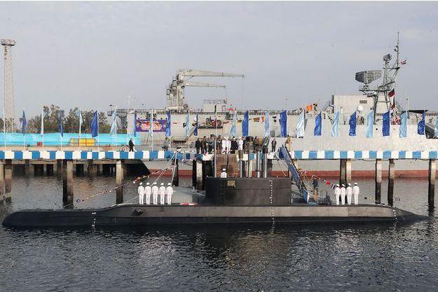 Le sous-marin à Bandar Abbas en Iran, le 17 février 2019.