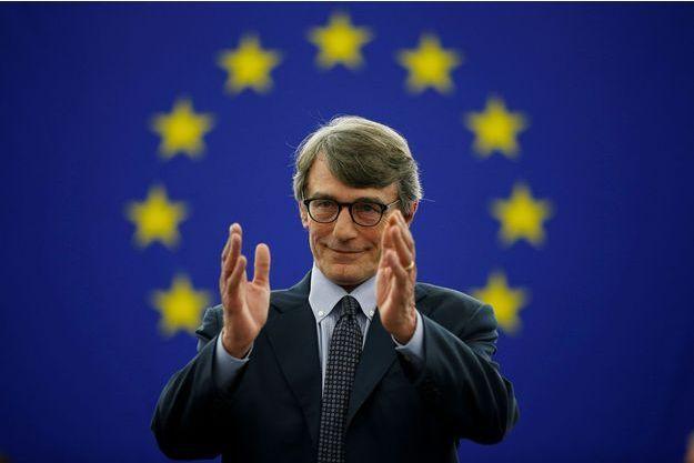 David Sassoli après son élection le 3 juillet, à Strasbourg.