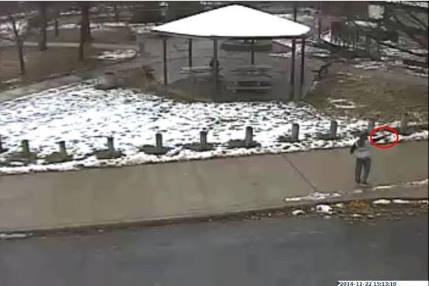 Tamir Rice, le jeune garçon tué par un policier, sur les images diffusées par les autorités de Cleveland.