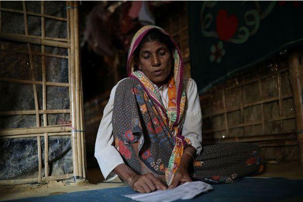 Une réfugiée Rohingya