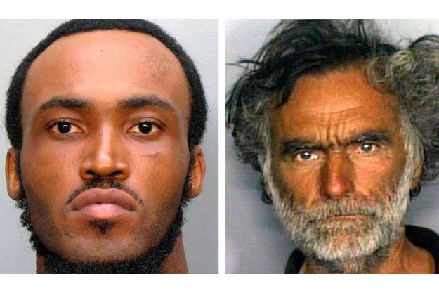 Rudy Eugene et sa victime de 65 ans, Ronald Poppo.