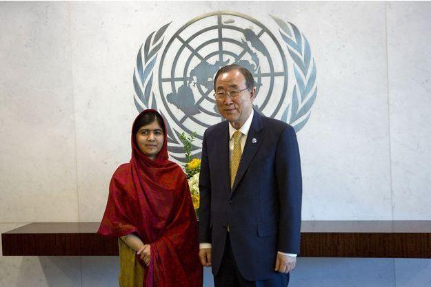 Malala a rencontré le Secrétaire général de l'Onu Ban Ki-moon ce lundi.