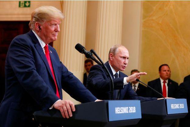 Vladimir Poutine et Donald Trump à Helsink, le 16 juillet 2018